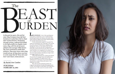 THE BEAST OF BURDEN: The Story of Meg & Dia Frampton and the Music Industry