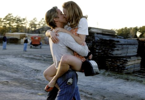 "Ryan Gosling and Rachel Adams kiss in ""The Notebook."""