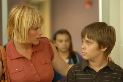 "Patricia Arquette as Olivia and Ellar Coltrane as Mason in ""Boyhood."" IFC Films."