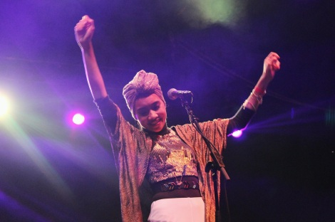 Yuna onstage at UC Irvine's Aldrich Park After Dark Concert, 9/30/2014. Photo credit to Chrisline Raymundo.