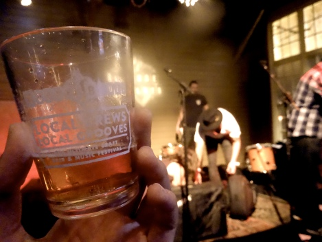 "The House of Blues, Anaheim hosts its first ""Local Brews Local Grooves"" craft beer, food and music festival last Saturday, 10/25/2014."
