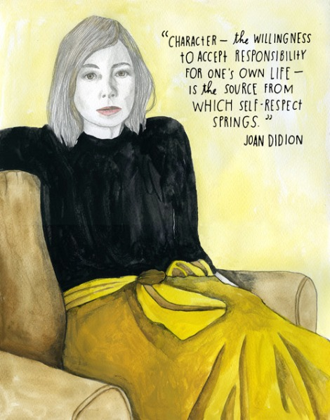 "Joan Didion. Image from ""The Reconstructionists."""