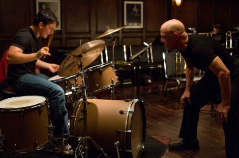 "Miles Teller and J.K. Simmons in ""Whiplash."""