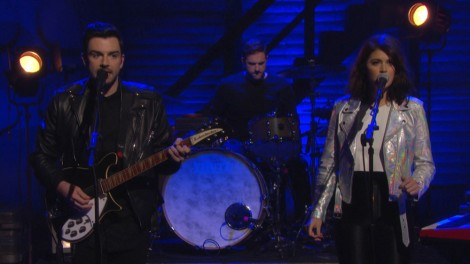 Milo Greene performing live on Conan. 1/28/2015. Photo Credit: Team Coco