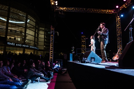 "Nick Waterhouse live on the Arts Plaza for Off Center Festival's ""Party On The Plaza"" (POP) at the Segerstrom Center in Costa Mesa, CA. 1/24/2015. Photo Credit: Leslie Kalohi, LA Record."