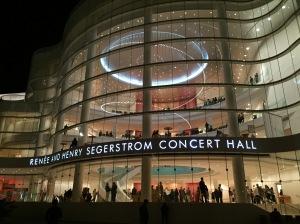 Renee & Henry Segerstrom Concert Hall. Costa Mesa, CA. 1/23/2015.