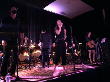 Singer-songwriter Dia Frampton and film composer Joseph Trapanese perform their newest project, ARCHIS, front-to-back at their EP release show this past Monday, 2/23/2015. Los Angeles. Photo by Rachel Ann Cauilan.
