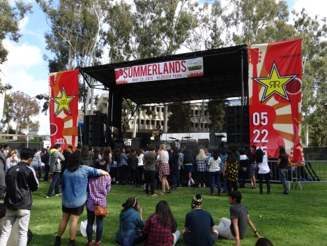 ASUCI and Rockstar presented the 2nd annual Summerlands Festival, held in UC Irvine's Aldrich Park. 5/22/2015.