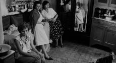 "Scene of three female bombers in ""The Battle of Algiers,"" Dir. Gillo Pontecorvo, 1966, France."