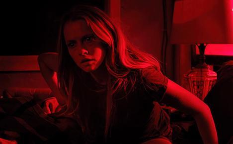 "Teresa Palmer as Rebecca in ""Lights Out"" (Dir. David F. Sandberg, Pr. James Wan). Releases nationwide July 22, 2016."
