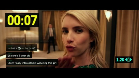 "Emma Roberts as Venus in ""Nerve."""