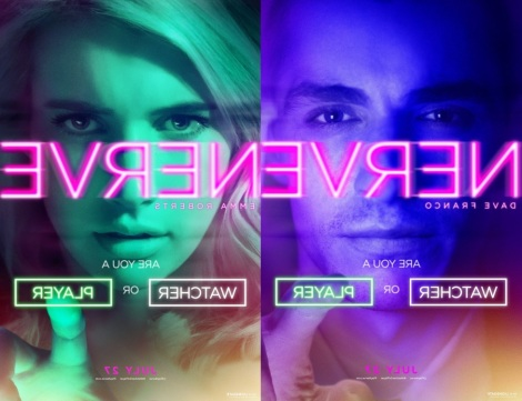 """Nerve"" starring Emma Roberts and Dave Franco. ""Are you a watcher or a player?"" Coming to theaters July 29th."