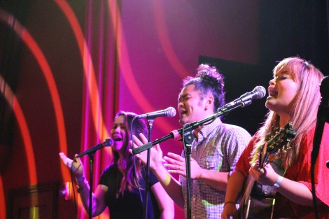 Nessa Rica Ramos, Gabe Bondoc and Melissa Polinar live at The Chapel, San Francisco, CA. 9/15/16. Photo courtesy of Christian Ang.