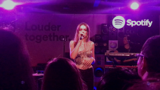"Charlotte Lawrence's debut performance at Spotify's ""Louder Together"" event at the Resident in Downtown Los Angeles, CA. 3/24/2018. (Photo: Rachel Ann Cauilan 