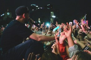 Mike Shinoda live at Identity LA in Grand Park, Los Angeles, CA 5/12/2018. (Photo: Iris Chu | Blurred Culture)